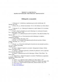 Bazele optimizării proceselor tehnologice - Pagina 1