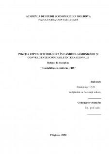 Poziția Republicii Moldova în candrul armonizării și convergenței contabile internaționale - Pagina 1
