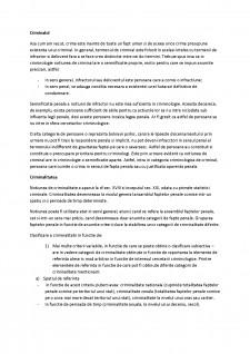 Criminalul și criminalitatea - Pagina 1