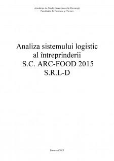 Analiza sistemului logistic al întreprinderii SC Arc-Food 2015 SRL-D - Pagina 1