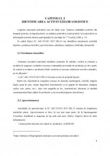 Analiza sistemului logistic al întreprinderii SC Arc-Food 2015 SRL-D - Pagina 4