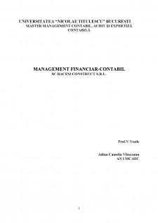 Management financiar contabil - SC Bacem Construct SRL - Pagina 1