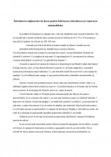 Intretinerea mijloacelor de lucru pentru fabricarea, intretinerea si repararea automobilelor - Pagina 1