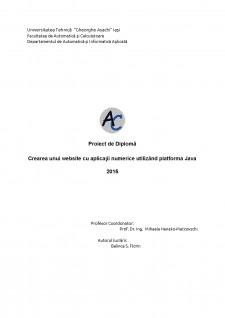 Crearea unui website cu aplicații numerice utilizând platforma Java 2015 - Pagina 1