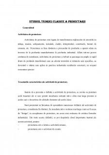 Studiul teoriei clasice a proiectării - Pagina 1