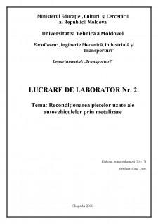 Recondiționarea pieselor uzate ale autovehiculelor prin metalizare - Pagina 1