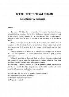Spețe - Drept Privat Român, învațământ la distanță - Pagina 1