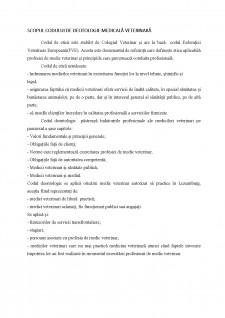Codul de deontologie medicala-veterinara din Luxemburg - Pagina 3