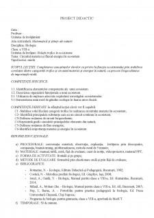 Proiect didactic - Circuitul materiei și fluxul energiei în ecosistem - Pagina 3