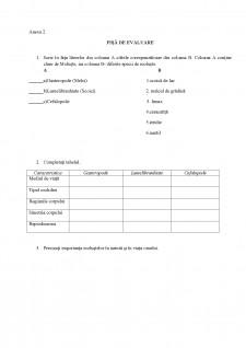 Proiect didactic - Moluștele - Pagina 1