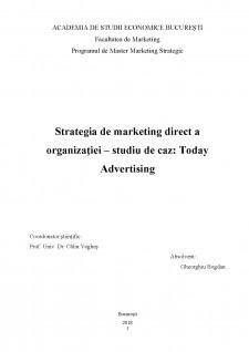 Strategia de marketing direct a organizației - studiu de caz Today Advertising - Pagina 2