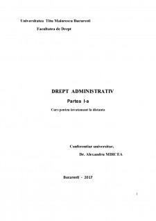 Drept adminitrativ - Pagina 1