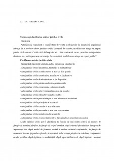 Actul juridic civil - Pagina 1