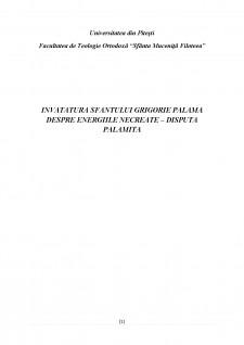 Învățătura sfantului Grigorie Palama despre energiile necreate - disputa palamită - Pagina 2