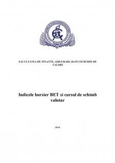 Corelația dintre indicele BET și cursul de schimb valutar - Pagina 1