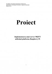 Implementarea unui server MQTT utilizând platforma Raspberry Pi - Pagina 1