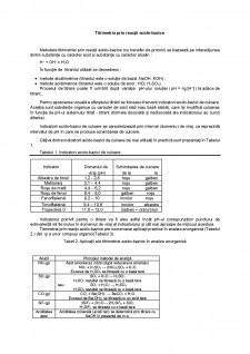 Titrimetria prin reacții acido-bazice - Pagina 1