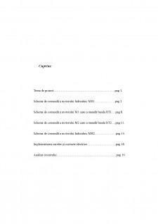 Schemă de comandă pentru automatizarea unei linii de transportat și prelucrat bușteni - Pagina 1