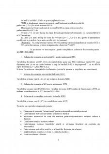 Schemă de comandă pentru automatizarea unei linii de transportat și prelucrat bușteni - Pagina 3