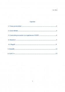 Controlul Fuzzy în reglarea automată a nivelului în rezervor - Pagina 2