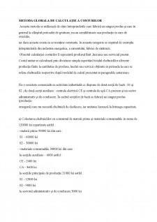 Metoda globala de calculație a costurilor - Pagina 1