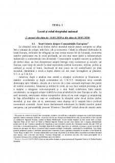 Dreptul Uniunii Europene - Pagina 1