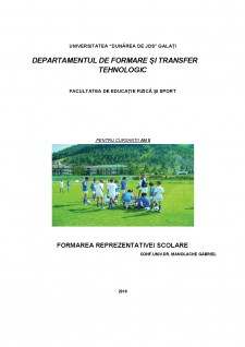 Formarea reprezentativei școlare - Pagina 1