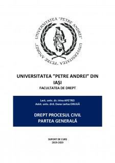 Drept procesual civil 2019 - Partea generala suport, curs revizuit - Pagina 1