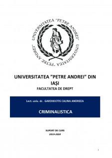 Suport curs criminalistică - Pagina 1