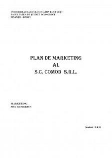 Plan de marketing al SC Comod SRL - Pagina 1