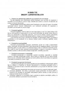 Subiecte drept administrativ - Pagina 1