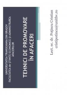 Tehnici de promovare în afaceri - Pagina 1