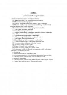 Lucrări speciale de topografie minieră - Pagina 1