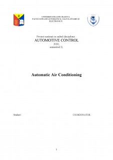 Automatic Air Conditioning - Pagina 1