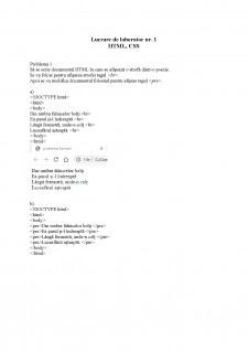 Laboratoare rezolvate Programare Web - Pagina 1