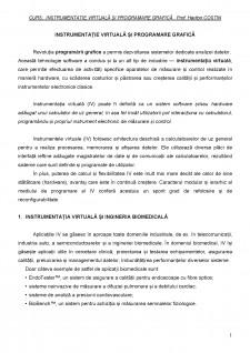 Instrumentație virtuală și programare grafică - Pagina 1