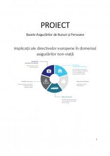 Implicații ale directivelor europene în domeniul asigurărilor non-viață - Pagina 1