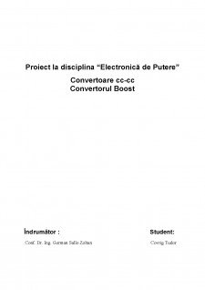Convertoare cc-cc - Convertorul Boost - Pagina 1