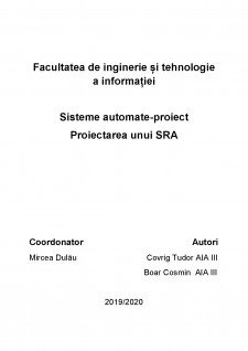 Proiectarea unui SRA - Pagina 1