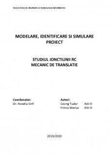 Studiul joncțiunii RC mecanic de translație - Pagina 1