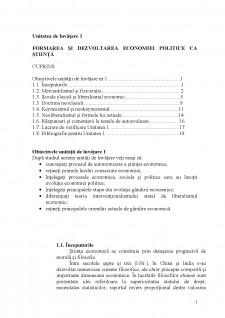 Economie politică - suport de curs - Pagina 1