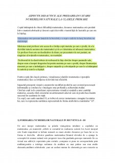 Aspecte didactice ale predarii-invatarii numerelor naturale la clasele primare - Pagina 1