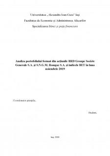Analiza portofoliului format din acțiunile BRD Groupe Societe Generale S.A. și S.N.G.M. Romgaz S.A - Pagina 1