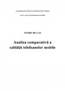 Analiza comparativă a calității telefoanelor mobile - Pagina 1