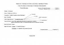Projet didactique - Pagina 1