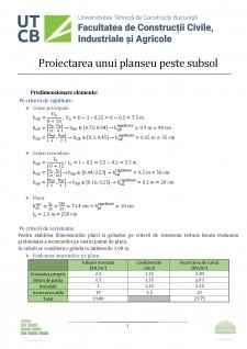 Proiectarea unui planșeu peste subsol - Pagina 2