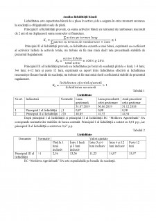 Analiza lichidității băncii - Pagina 1