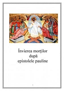 Învierea morților după epistolele pauline - Pagina 1