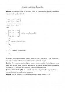Sisteme de ecuații liniare curs recapitulativ - Pagina 1