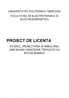 Proiectarea și simularea unei mașini asincrone trifazate cu rotor bobinat - Pagina 1